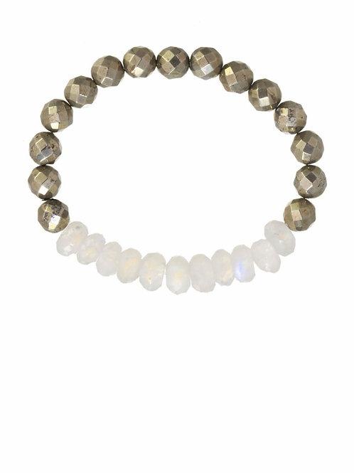 Moonstone & Pyrite Bracelet - Margo Morrison