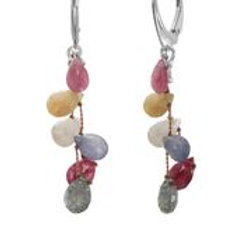 Multi-color Sapphire Earrings - Margo Morrison
