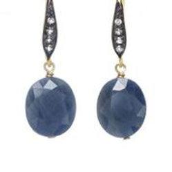 Blue & White Sapphire Earrings