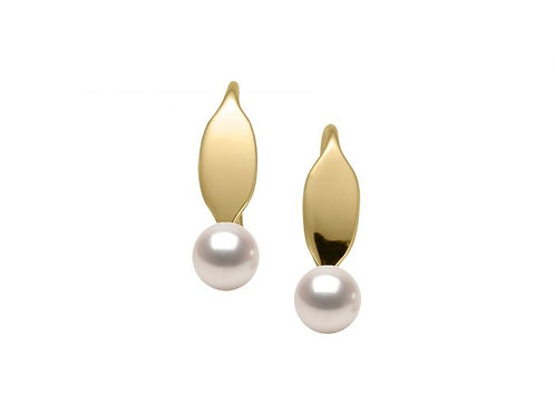 """La Petite"" 14kt Gold & Pearl Earrings - Ed Levin Studio"