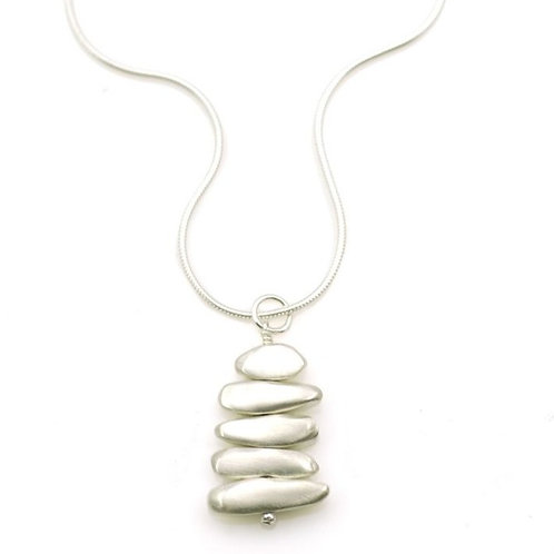 """Philippa Roberts - Sterling Silver """"Pebble"""" Necklace"""