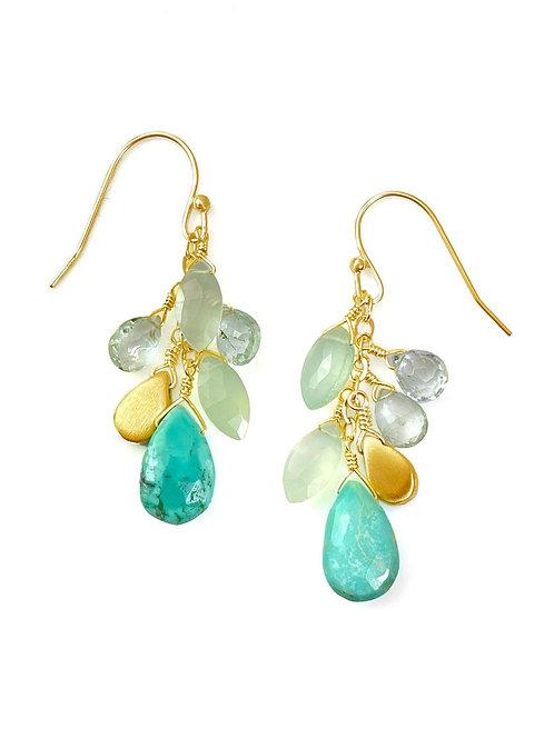 Philippa Roberts - Vermeil Cluster Earrings