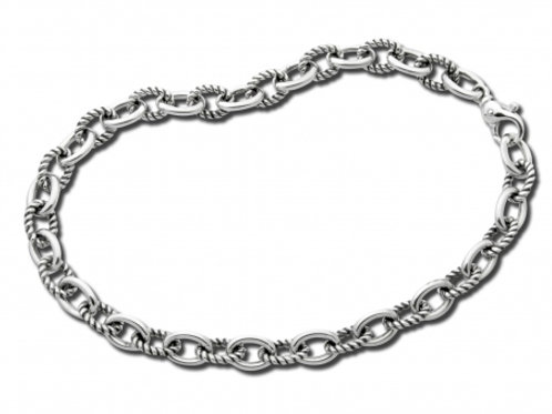 Twist Link Necklace - Sterling Silver