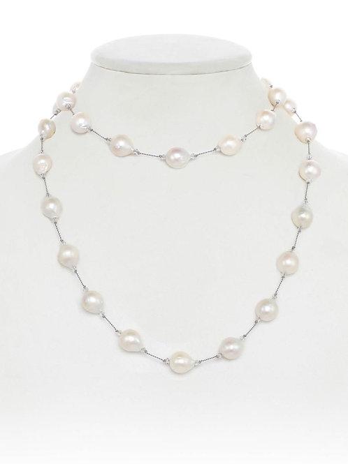 White Baroque Pearl Necklace - Margo Morrison