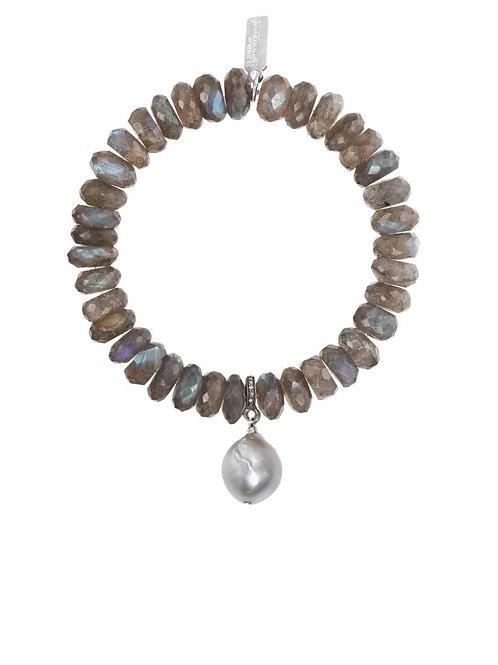 Labradorite & Gray Baroque Bracelet - Margo Morrison