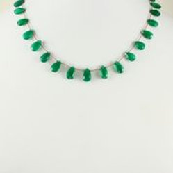 Margo Morrison - Green Onyx Teardrop Necklace