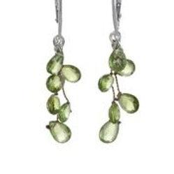 Peridot & Sterling Silver Earrings