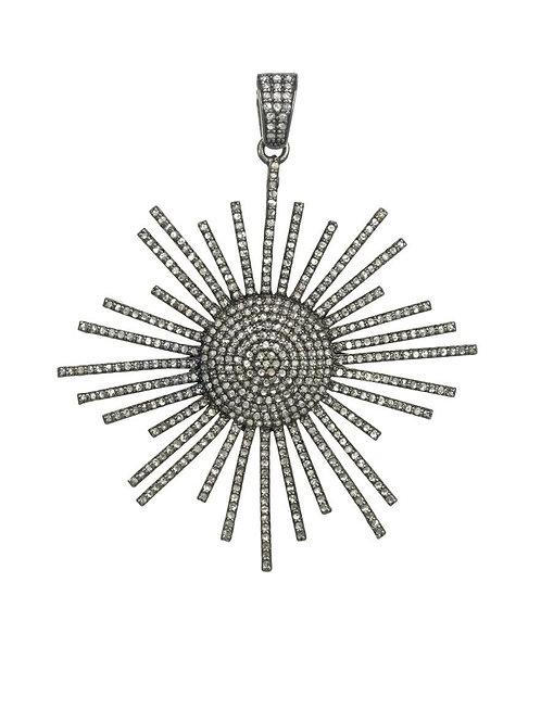 Sterling Silver & Diamond Sunburst Charm - Margo Morrison
