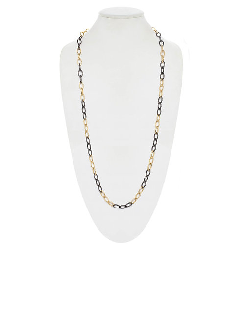 Margo Morrison - Two Tone 18kt Gold Vermeil & Sterling Chain
