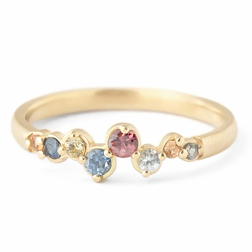 "Anne Sportun - 18kt Gold & Multi-Colored Sapphire ""Festival""Band"