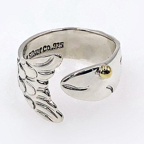 Chatham Fish Ring - Sterling Silver & Brass Eye
