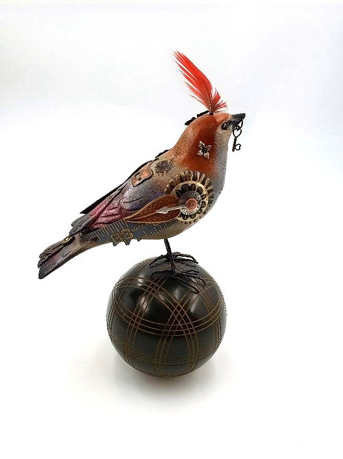 Mullanium - Bird With Red Feather & Croquet Ball