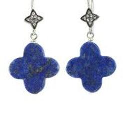 Lapis & White Sapphire Earrings - Margo Morrison