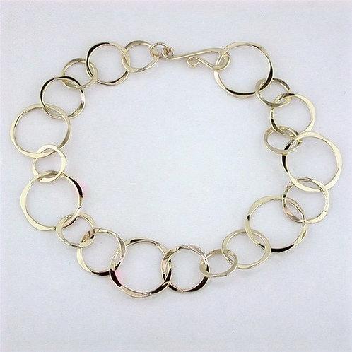 Varied Circle 14kt Gold Bracelet