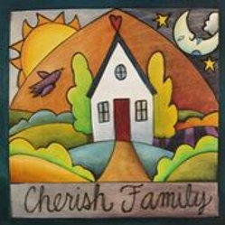 """Cherish Family"" Wood Plaque"