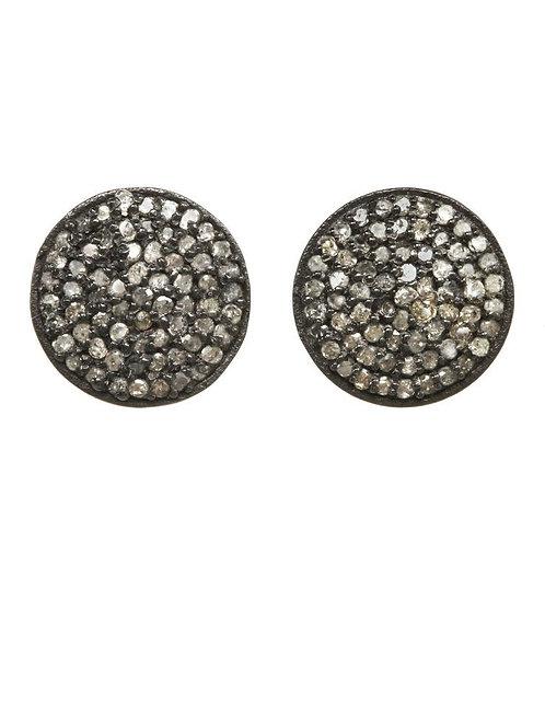 Pave Diamond Stud Earrings - Margo Morrison