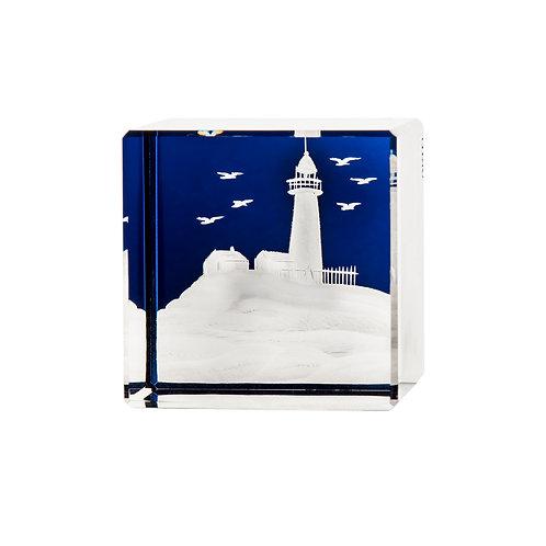 Artel - Crystal Lighthouse Motif Paperweight