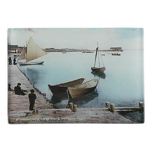 "John Derian - Beach Scene Provincetown 3.5"" x 5"" Tray"