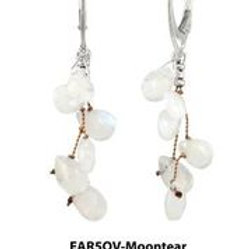 Moonstone & Sterling Silver Earrings - Margo Morrison