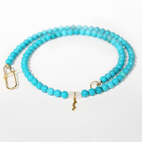 """Rayminder"" Turquoise Bead Necklace - Sailormade"