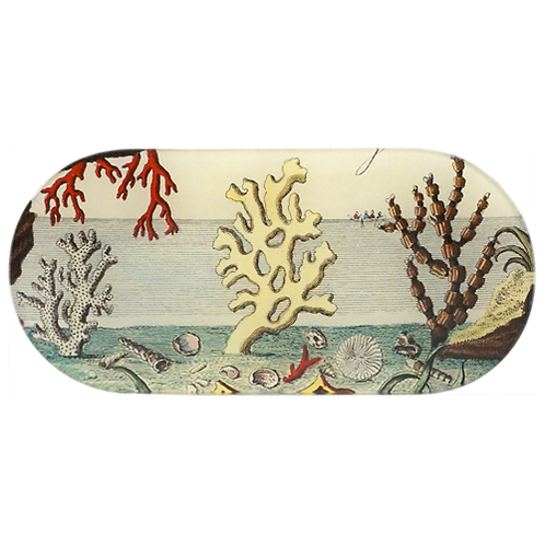 """John Derian - Corals by the Sea 4.5"""" x 9.5"""" Tray"""