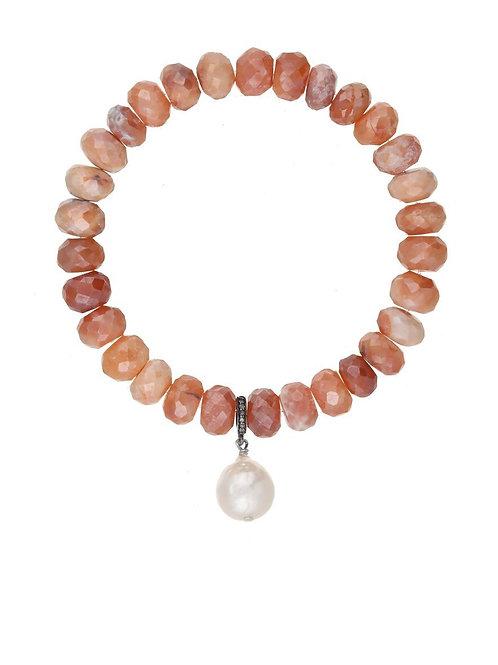 Carnelian & Baroque Pearl Bracelet - Margo Morrison