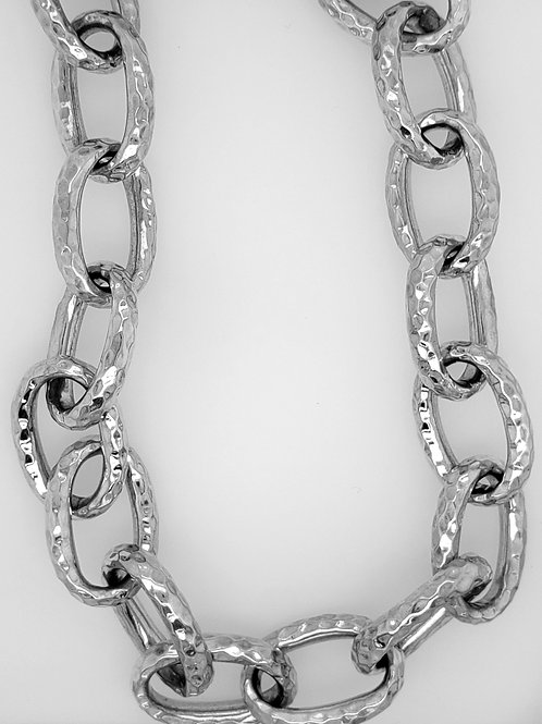 Tube Link Necklace - Sterling Silver