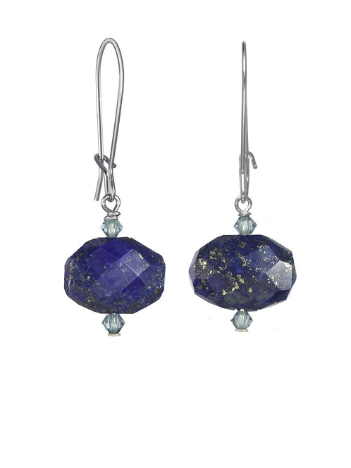 Margo Morrison - Lapis & Sterling Silver Wire Earrings