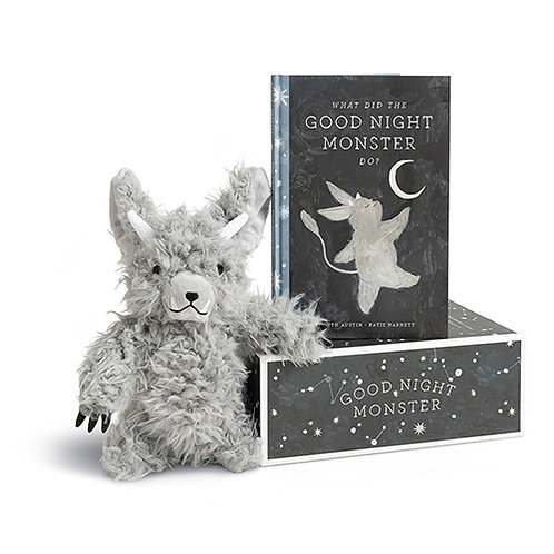 """Good Night Monster"" Storybook & Plush Toy For Bedtime"