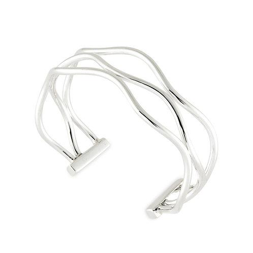 Sterling Silver Three Wire Cuff Bracelet