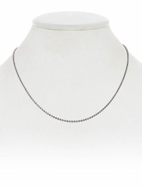 "Sterling Silver Ball Chain - 18"" - Margo Morrison"