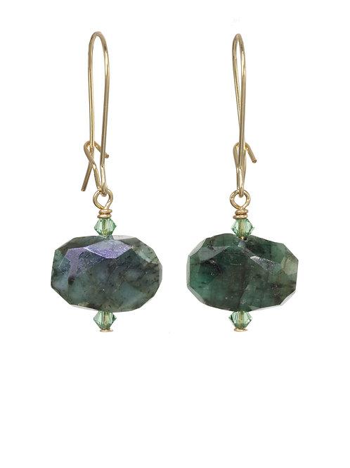 Raw Emerald Earrings - Margo Morrison
