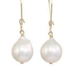White Baroque Pearl Earrings - Margo Morrison