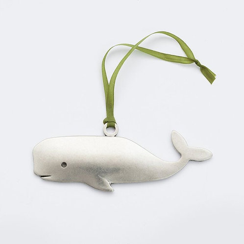 Whale Ornament - Pewter