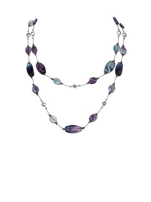 Margo Morrison - Fluorite & Pyrite Necklace