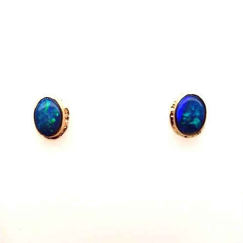 Australian Opal & 14kt Gold Post Earrings - Jamie Joseph