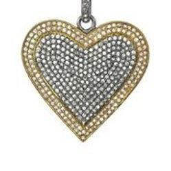 Pave Diamond Heart Charm - Margo Morrison