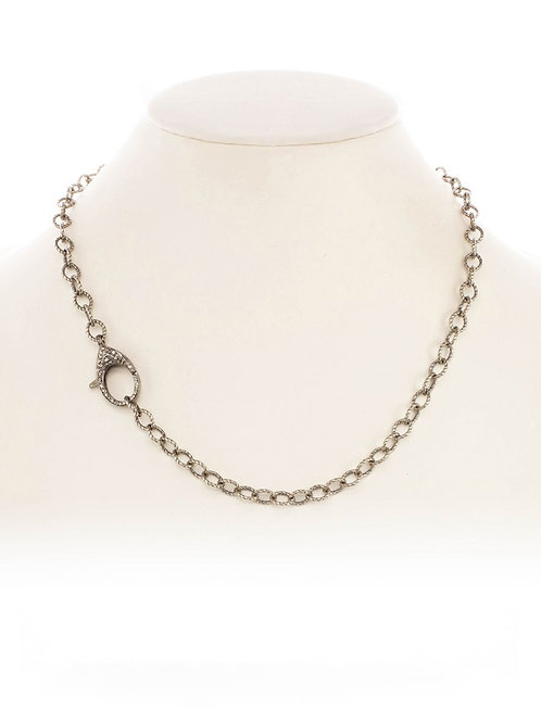 Sterling Link Chain With Diamond Clasp - Margo Morrison