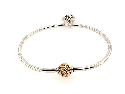 Cape Cod Bracelet - 14kt Gold Swirl Ball