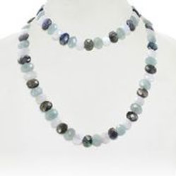Aquamarine, Moonstone, & Labradorite Necklace - Margo Morrison
