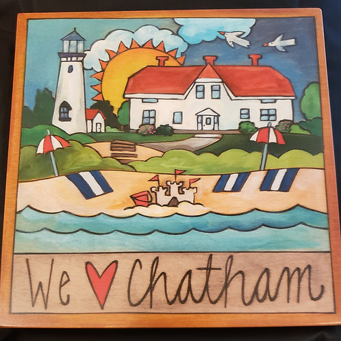 """""""Chatham"""" Wood Plaque by Sincerely Sticks"""