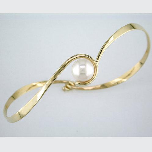Curl Bracelet - 14kt Gold & Pearl