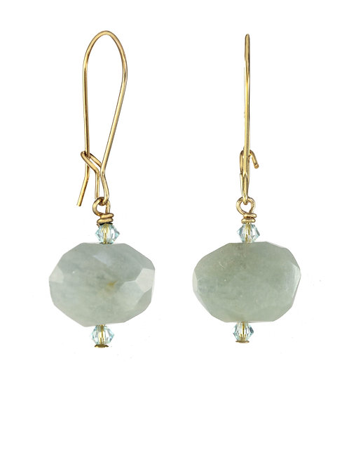 Margo Morrison - Aquamarine and 14kt Gold Fill Wire Earrings
