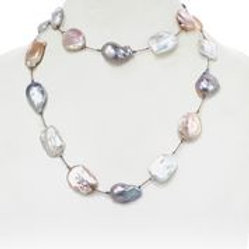 Baroque, Coin, & Biwa Pearl Necklace - Margo Morrison