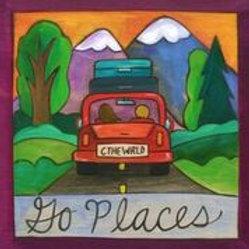 """""""Go Places"""" Wood Plaque"""