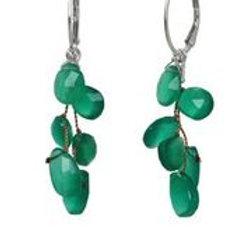 Green Onyx & Sterling Silver Earrings - Margo Morrison