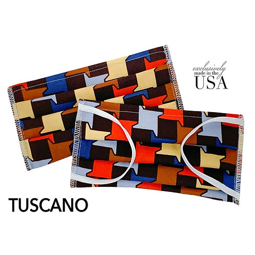 "Cotton Print Face Mask - ""Toscano"""