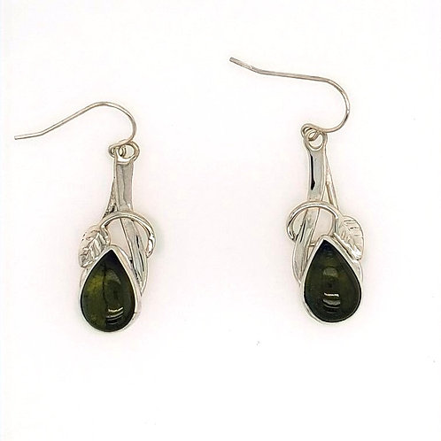 Vesuvianite & Sterling Silver Earrings