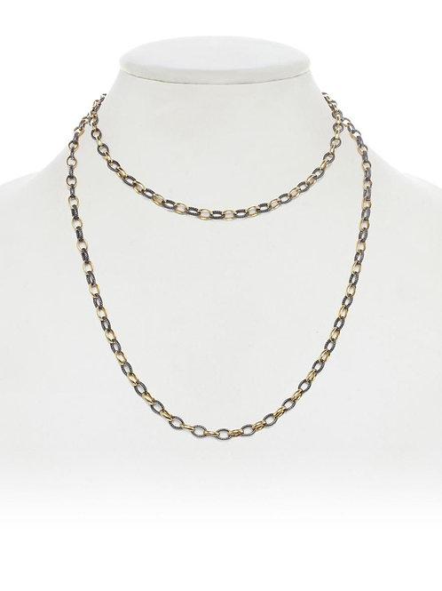 18kt Gold Vermeil & Oxidized Sterling Necklace - Margo Morrison