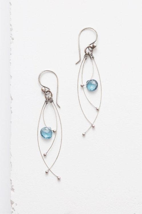 """""""Tickle"""" Earrings - London Blue Topaz & Sterling Silver"""